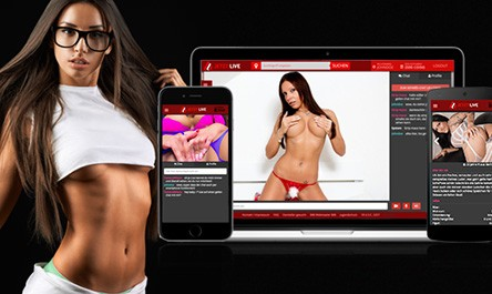 Auf jetztlive.com kann man auch mit dem Handy Sexcams anschauen und chatten