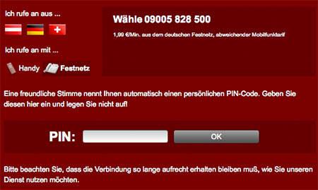 Visit-X-Telefonzugang
