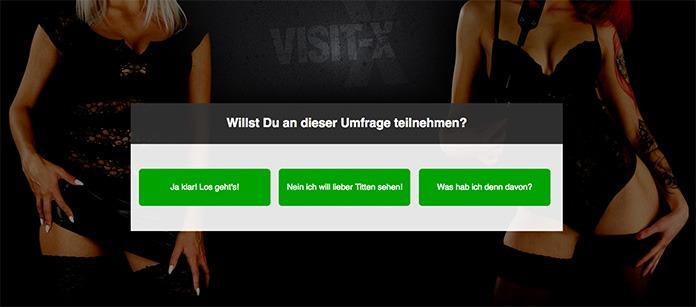 Visit-X Sexcam Umfrage mit 25 Euro Gutschein