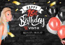 Visit-X feiert den 18. Geburtstag